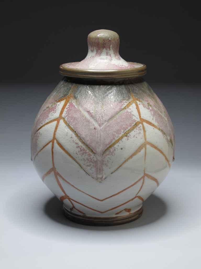 """Ceramic lidded jar. """"Horizon Jar"""""""