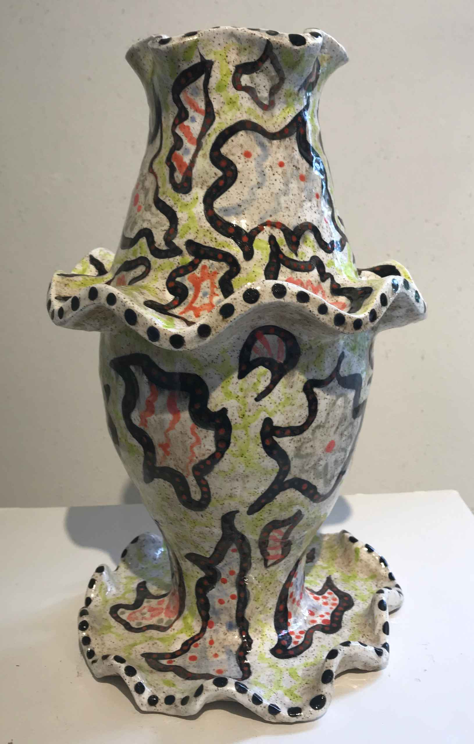 Colorful vase by Julian Yost